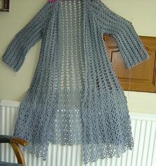 Vintage Crochet Pattern Elegant Duster Coat 34-40 Bust