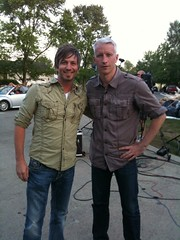 Pete Wilson and Anderson Cooper