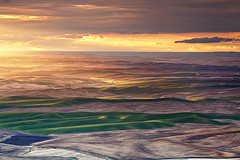 Palouse Colors: Steptoe Butte, Washington (Ivan Sohrakoff) Tags: sunset colors landscape washington spring sundown farm wheat hills idaho wsu pullman fields crops farmer agriculture washingtonstate rollinghills colfax palouse easternwashington landscapephotography steptoe palousehills steptoebutte thepalouse ivansohrakoff