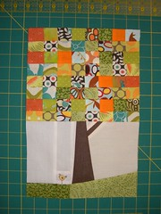 Hip to Bee Square - April (Marblesbestfriend) Tags: quiltblock quiltingbee wonkytree