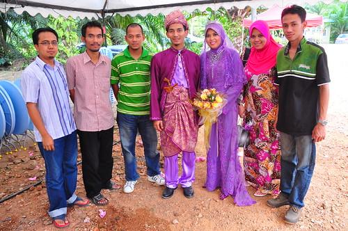Zul, Ajak, Yahya, Fariz and wife