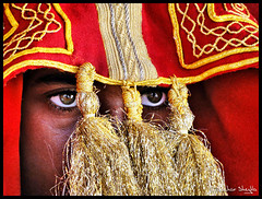 Eyes Behind the Curtain ! (Bashar Shglila) Tags: city wedding man groom eyes dress traditional curtain worn behind libya libyan ghadames