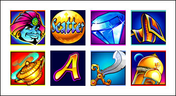 free Golden Goose Genie's Gems slot game symbols