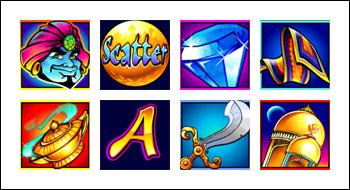 free Golden Goose Genie's Gems slot game symbols