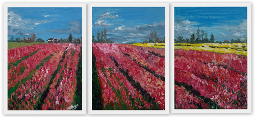 Tulip Fields Triptych