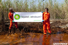 BP's Clean Energy Future in Gulf (Greenpeace USA 2013) Tags: ocean venice usa beach louisiana horizon platform greenpeace well disaster oil british bp petroleum umwelt horsman deepwater
