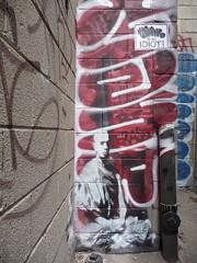 Banksy-Toronto 2010 (bella.m) Tags: streetart toronto canada graffiti photo stencil banksy pochoir manr buddhistmonkstencil
