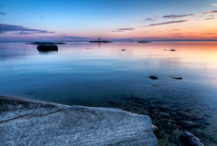 Twilight on Nipissing (CUCKOOPHOTHOG) Tags: sunset lake ontario canada landscape bay twilight nikon day north shoreline tokina pro polarizer circular 116 hoya atx d300 nipissing lpf atx116prodx pwpartlycloudy
