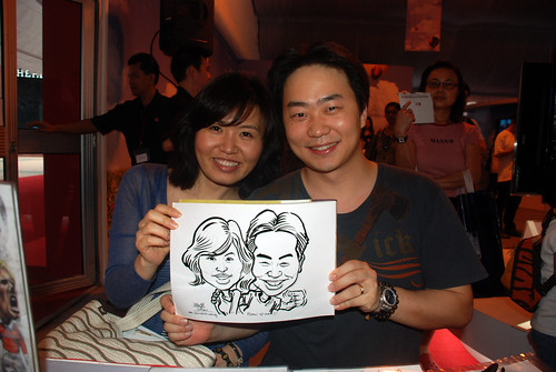 caricature live sketching for LG Infinia Roadshow - day 1 - 25