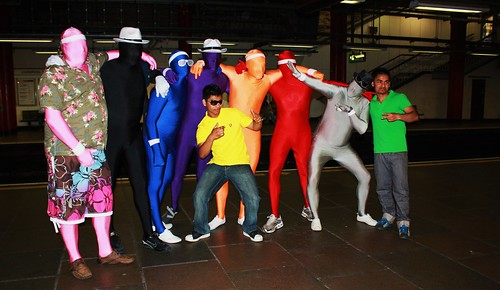 Morph Suits on the Tube