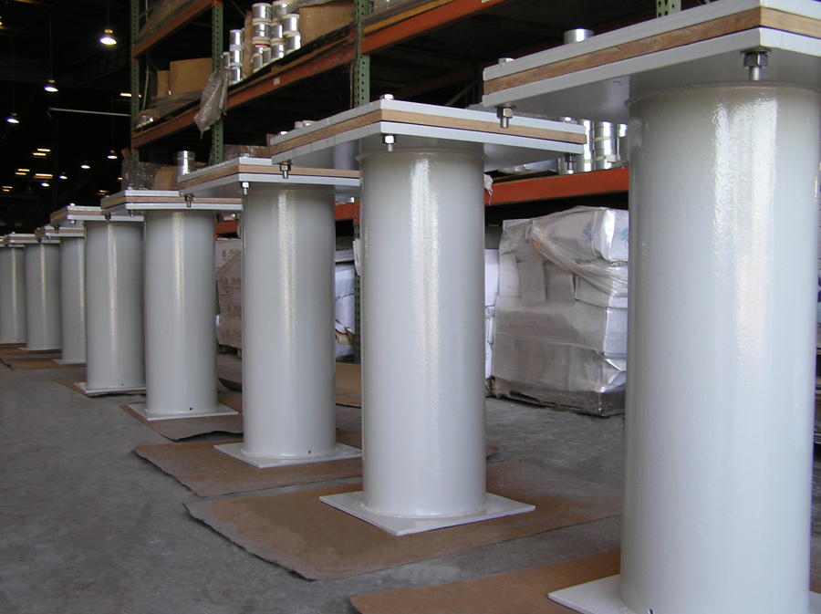 Trunnion Base ELL Supports for a Cryogenic Line