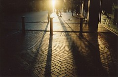 Birmingham (Adele M. Reed) Tags: city light england sun film 35mm birmingham shadows 200 kodacolor nikonl35af2