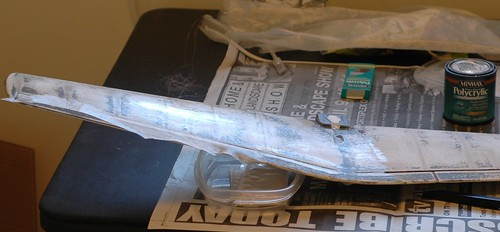 Fiberglassing the wing
