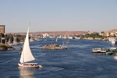 the river Nile near Aswan, Egypt (Marjan de B) Tags: africa travel cruise vacation history water river boats ancient desert ships egypt middleeast nile arab historical aswan 2010 felucca deblaauwpix