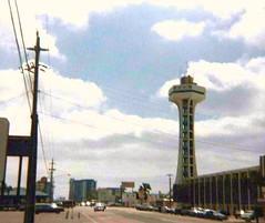Cruising the Strip on Front Beach Rd, near the Top of the Strip Tower, Panama City Beach, Florida. 1980's (stevesobczuk) Tags: