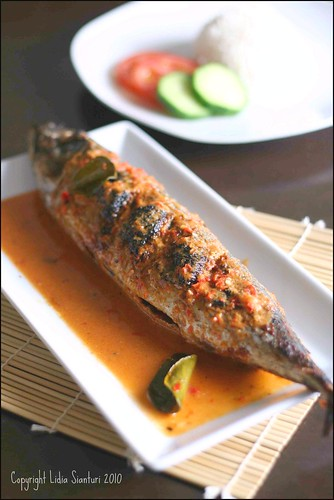 Grilled Fish with Spicy Coconut Milk Sauce
