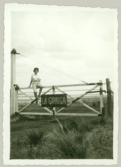 Woman on Gate