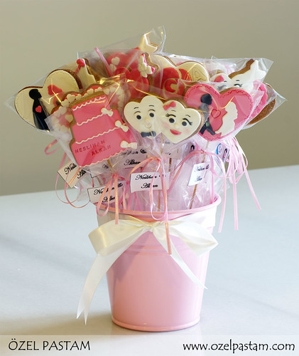 Pink Bridal Shower Cookies