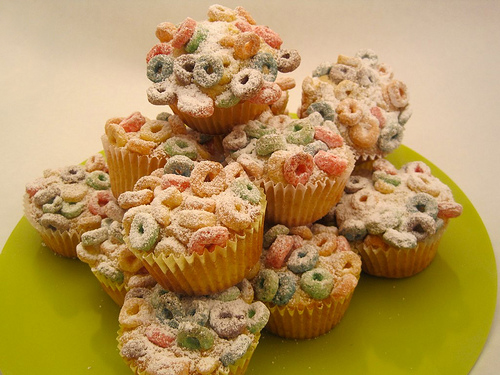 Fruit Loop Cupcake