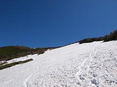 北斜面はギリギリセーフ