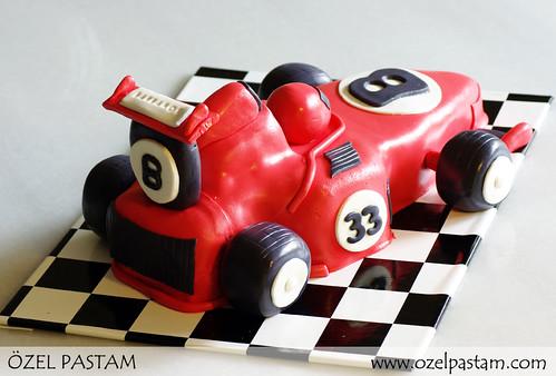 Formula 1 Arabası Pasta / F1 Car Cake