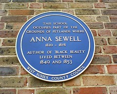Photo of Anna Sewell blue plaque