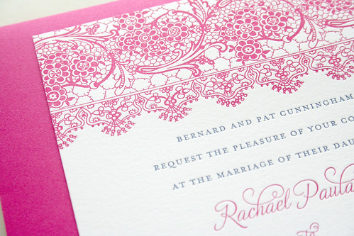 Spanish Lace Wedding Invitation