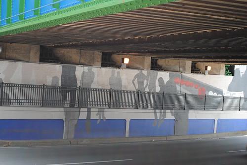 under bridge mural