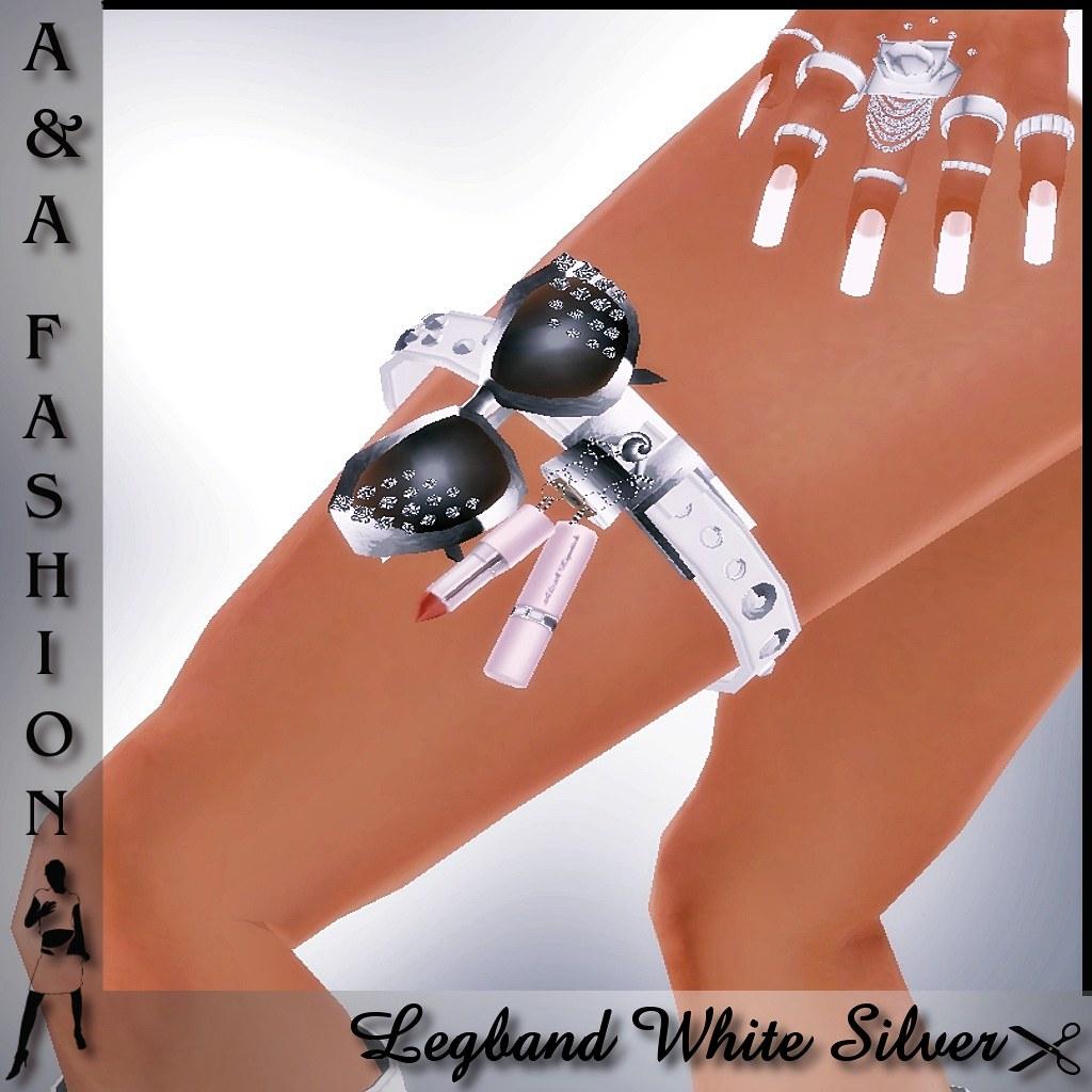 A&A Fashion Legband White Silver