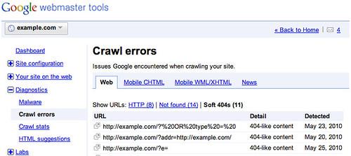 google soft 404s