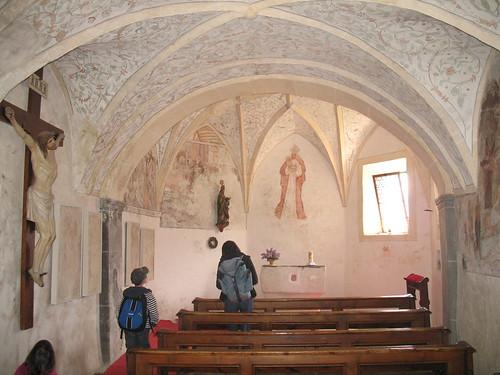 Beeindruckende Fresken im Äigidiuskirchlein am Sonnenberg bei Kortsch