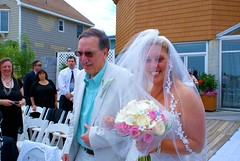 Precious And Stunning Bride (Andy Arecco) Tags: wedding ny beach beautiful smiling club walking daddy bride daughter down her crescent aisle stunning gown bayville