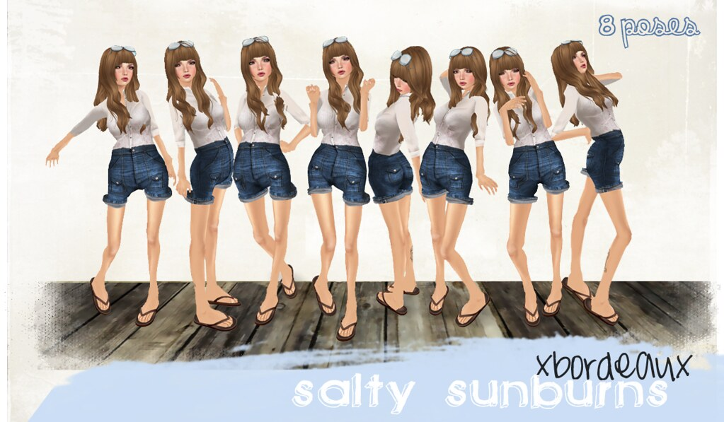 salty sunburns pose set.