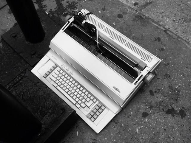 back when tech was simpler #walkingtoworktoday
