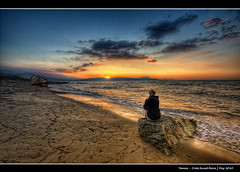 195/365 - HDR - Crete.Sunset.Renia.@.1150x744 (Pawel Tomaszewicz) Tags: camera new light sunset shadow sea sky holiday streets beach colors girl rock clouds photoshop canon island greek photography eos islands photo sand europe foto view angle wide creative kreta wideangle ps hobby greece crete fotografia greekislands hdr cyclades fable hdri aparat pawe wakacje  kriti  chmury 3xp grecja photomatix   odpoczynek greatphotographers kyklades wyspa  wyspy eos400d 1200x800 fotografowie polscy cyklady  tomaszewicz paweltomaszewicz