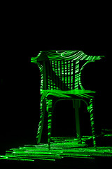 a very comfortable chair (Pedro Moura Pinheiro) Tags: lightpainting green chair remove laser laserpainting pedromourapinheiro 5dmk2 canonef70200mmf28lisiiusm rsa2011