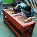 The childre love the sensory table the team built
