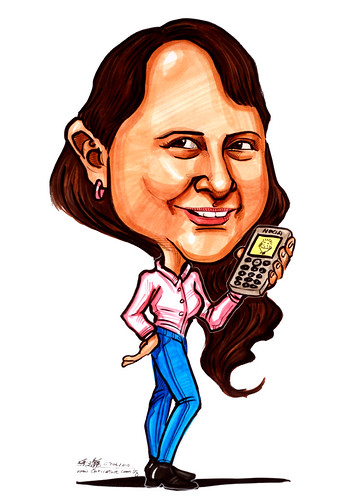 Caricatures for NUS - handphone