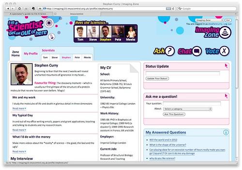 Imascientist Web Page