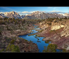 Hot Creek Geothermal Area (TomGrubbe) Tags: california creek sunrise river landscape scenic sierras mammothlakes geothermal hotsprings easternsierras hotcreek