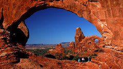 Turret Arch Viewed Through North Window at Arches National Park (D200-PAUL) Tags: utah nationalpark arches archesnationalpark redstone northwindow turretarch aboveandbeyondlevel4 aboveandbeyondlevel1 aboveandbeyondlevel2 aboveandbeyondlevel3