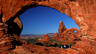 Turret Arch Viewed Through North Window at Arches National Park