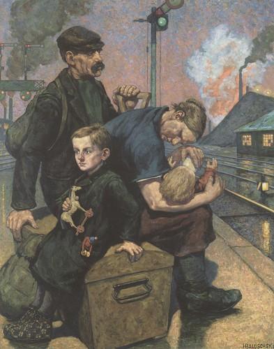 Hans Baluschek, Die Auswanderer (The Emigrants), 1924