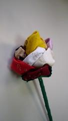 ROSA MATIZADA (rosaestilosa) Tags: flower rose handmade pano flor artesanato rosa craft fuxico tecido retalho matizada