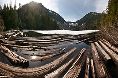 Lake Talapus, pano (absencesix) Tags: trees panorama plants usa lake nature iso100 washington log unitedstates events may noflash northamerica 1020mm 16mm hikes locations 2010 locale verticalstitch manualmode canon30d mountbakersnoqualmienationalforest canoneos30d mtbakersnoqualmienationalforest laketalapustrail camera:make=canon geo:state=washington exif:make=canon exif:iso_speed=100 objectsthings hasmetastyletag hascameratype naturallocale selfrating3stars exif:focal_length=16mm 1250secatf11 may152010 geo:countrys=usa exif:lens=100200mm exif:model=canoneos30d camera:model=canoneos30d exif:aperture=ƒ11 laketalapus05152010 subjectdistanceunknown geo:city=mountbakersnoqualmienationalforest mountbakersnoqualmienationalforestwashingtonusa geo:lon=12151631393617 geo:lat=47413532787235 47°2449n121°3059w