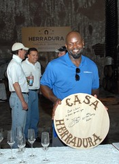 Emmitt Smith visits Tequila Herradura
