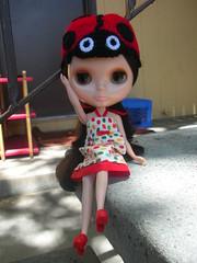 Monchichi Meets Ladybug