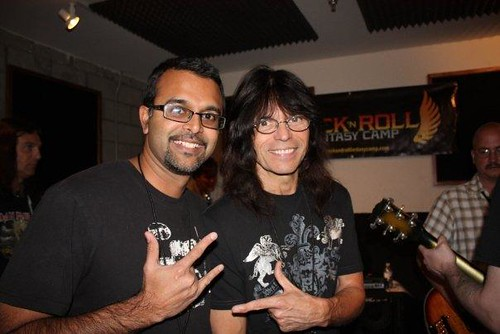 Ujesh and Rudy Sarzo at Band Camp