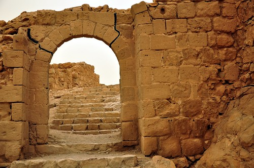 Gate at the fortress of Masada in Israel