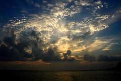 cloudscape (Samir D) Tags: sunset cloud india canon river landscape eos evening asia 1855 bangla 2010 ganges rivermouth westbengal diamondharbour 40d ruralbengal canon40d samird ghatsofganges